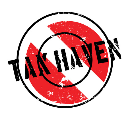 Tax Haven rubber stamp Ilustração