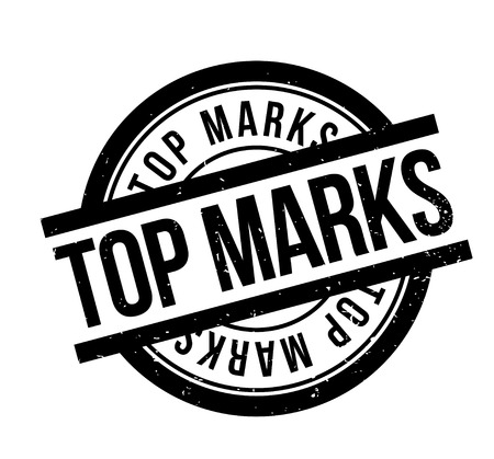 countdown: Top Marks rubber stamp. Grunge design with dust scratches. Effects can be easily removed for a clean, crisp look. Color is easily changed. Illustration