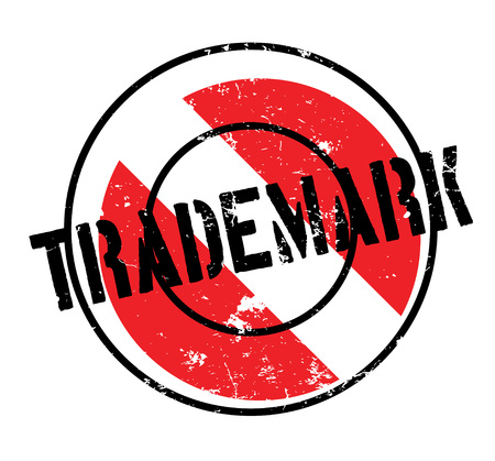 Trademark rubber stamp. Grunge design with dust scratches. Effects can be easily removed for a clean, crisp look. Color is easily changed.