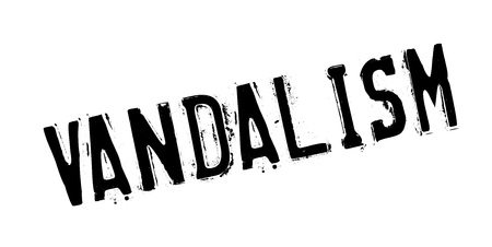 breaking law: Vandalism rubber stamp. Grunge design with dust scratches. Effects can be easily removed for a clean, crisp look. Color is easily changed.