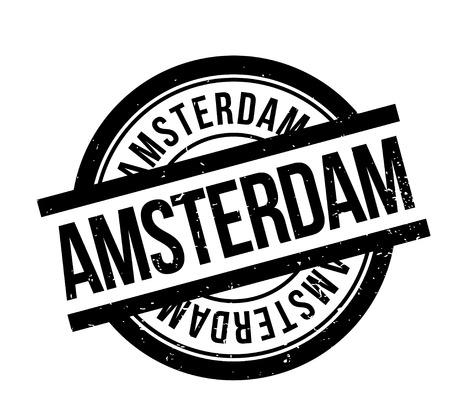 アムステルダムのゴム印。ほこり傷とグランジ デザイン。