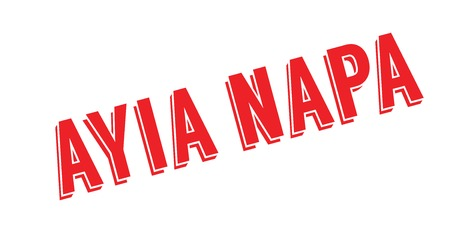 Ayia Napa rubber stamp. Grunge design with dust scratches.