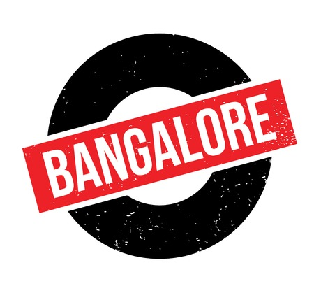 Bangalore rubber stamp. Grunge design with dust scratches. Effects can be easily removed for a clean, crisp look. Color is easily changed. Illustration
