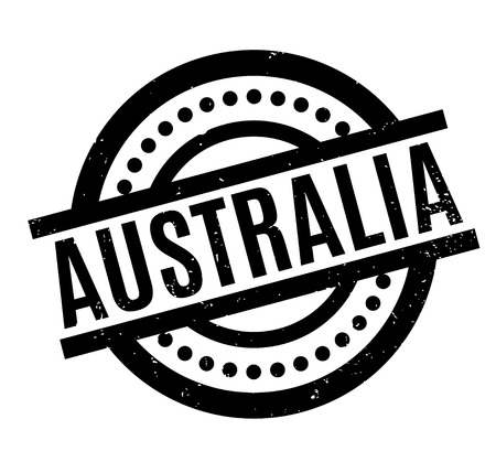 Australia rubber stamp. Grunge design with dust scratches. Effects can be easily removed for a clean, crisp look. Color is easily changed.