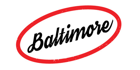 Baltimore rubber stamp. Grunge design with dust scratches.