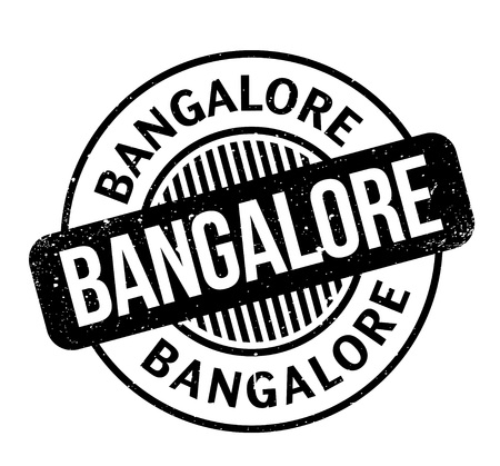 Bangalore rubber stamp. Grunge design with dust scratches. Illustration