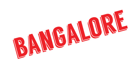 plateau: Bangalore rubber stamp. Grunge design with dust scratches. Effects can be easily removed for a clean, crisp look. Color is easily changed. Illustration