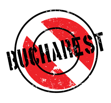 Bucharest rubber stamp. Grunge design with dust scratches. Effects can be easily removed for a clean, crisp look. Color is easily changed. Illustration