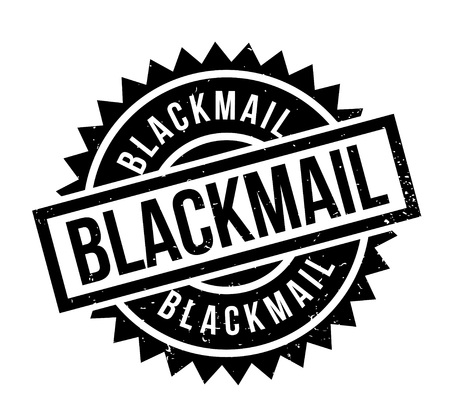 Blackmail rubber stamp. Grunge design with dust scratches. Effects can be easily removed for a clean, crisp look. Color is easily changed. Illustration