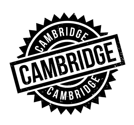 Cambridge rubber stamp. Grunge design with dust scratches. Effects can be easily removed for a clean, crisp look. Color is easily changed. Ilustração