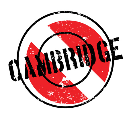 uni: Cambridge rubber stamp. Grunge design with dust scratches. Effects can be easily removed for a clean, crisp look. Color is easily changed. Illustration