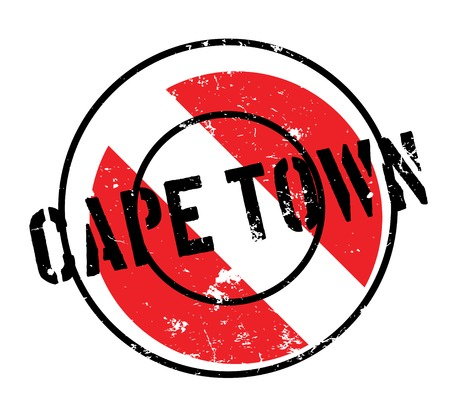 Cape Town rubber stamp. Grunge design with dust scratches. Effects can be easily removed for a clean, crisp look. Color is easily changed.