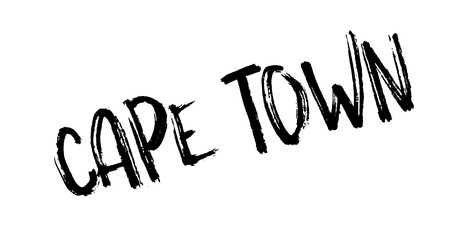 western town: Cape Town rubber stamp. Grunge design with dust scratches. Effects can be easily removed for a clean, crisp look. Color is easily changed.