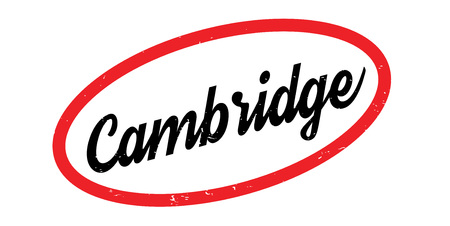 Cambridge rubber stamp. Grunge design with dust scratches. Effects can be easily removed for a clean, crisp look. Color is easily changed. Illustration