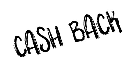 Cash Back rubber stamp. Grunge design with dust scratches. Effects can be easily removed for a clean, crisp look. Color is easily changed.