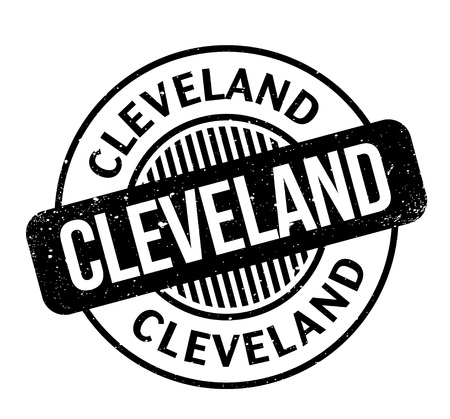 Cleveland rubber stamp. Grunge design with dust scratches. Effects can be easily removed for a clean, crisp look. Color is easily changed.