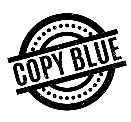 Copy Blue rubber stamp. Grunge design with dust scratches. Effects can be easily removed for a clean, crisp look. Color is easily changed.