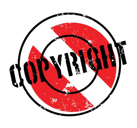 Copyright rubber stamp. Grunge design with dust scratches. Effects can be easily removed for a clean, crisp look. Color is easily changed. Illustration