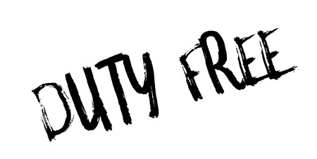 Duty Free rubber stamp. Grunge design with dust scratches. Effects can be easily removed for a clean, crisp look. Color is easily changed. Illustration