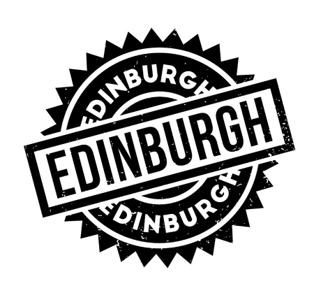 Edinburgh rubber stamp. Grunge design with dust scratches. Effects can be easily removed for a clean, crisp look. Color is easily changed.