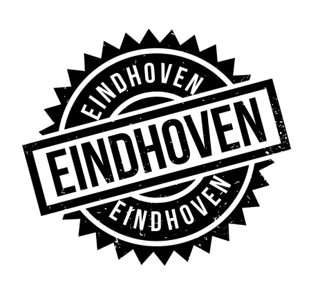 Eindhoven rubber stamp. Grunge design with dust scratches. Effects can be easily removed for a clean, crisp look. Color is easily changed. Illustration