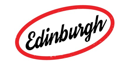 scottish culture: Edinburgh rubber stamp. Grunge design with dust scratches. Effects can be easily removed for a clean, crisp look. Color is easily changed.