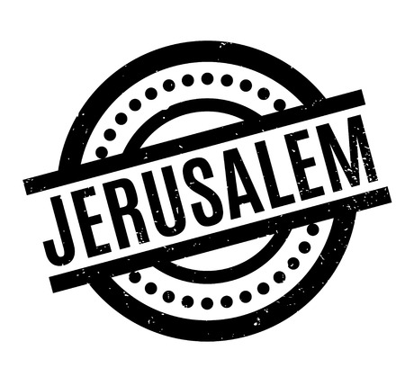 Jerusalem rubber stamp. Grunge design with dust scratches. Effects can be easily removed for a clean, crisp look. Color is easily changed. Illustration