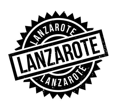 ランサローテ島のゴム印。ほこり傷とグランジ デザイン。効果は、クリーンでさわやかな一見のために簡単に削除できます。色が簡単に変更されま