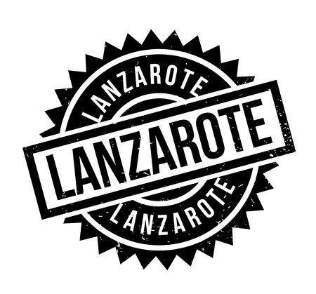 Lanzarote rubber stamp. Grunge design with dust scratches. Effects can be easily removed for a clean, crisp look. Color is easily changed. 向量圖像