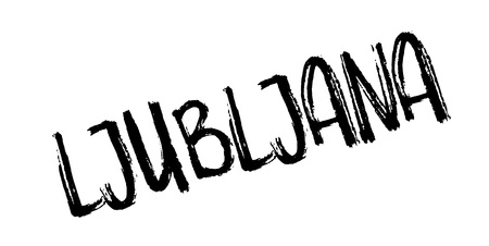 Ljubljana rubber stamp. Grunge design with dust scratches. Effects can be easily removed for a clean, crisp look. Color is easily changed. Illustration