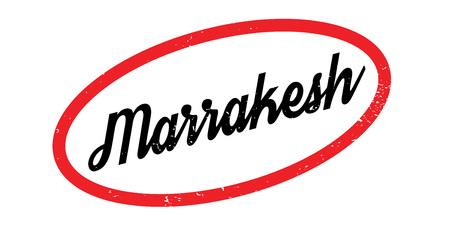 Sello de goma de Marrakesh. Diseño de Grunge con rayas de polvo. Los efectos se pueden eliminar fácilmente para una apariencia limpia y nítida. El color se cambia fácilmente.