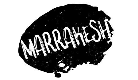 Marrakesh rubber stamp. Grunge design with dust scratches. Effects can be easily removed for a clean, crisp look. Color is easily changed.
