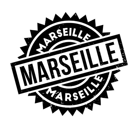 Marseille rubber stamp. Grunge design with dust scratches. Effects can be easily removed for a clean, crisp look. Color is easily changed. Illustration