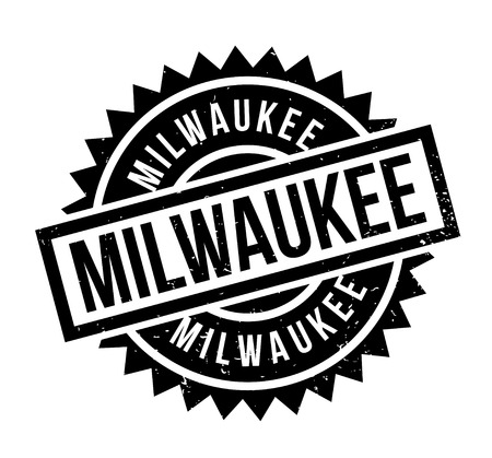 Milwaukee rubber stamp. Grunge design with dust scratches. Effects can be easily removed for a clean, crisp look. Color is easily changed.