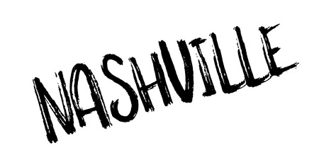 Nashville rubber stamp. Grunge design with dust scratches. Effects can be easily removed for a clean, crisp look. Color is easily changed. Stock Vector - 87726210
