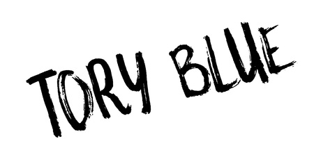 Tory Blue rubber stamp. Grunge design with dust scratches. Effects can be easily removed for a clean, crisp look. Color is easily changed.