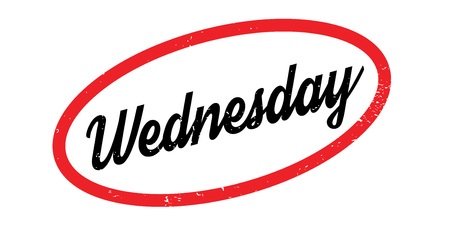 Wednesday rubber stamp. Grunge design with dust scratches. Effects can be easily removed for a clean, crisp look. Color is easily changed.