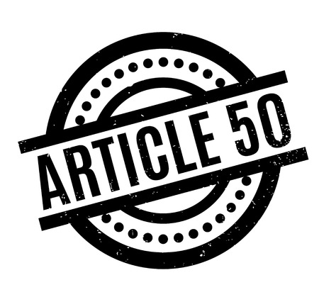 Article 50 rubber stamp. Grunge design with dust scratches. Effects can be easily removed for a clean, crisp look. Color is easily changed.