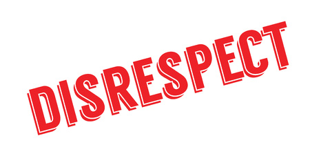irrespeto: Disrespect rubber stamp. Grunge design with dust scratches. Effects can be easily removed for a clean, crisp look. Color is easily changed.