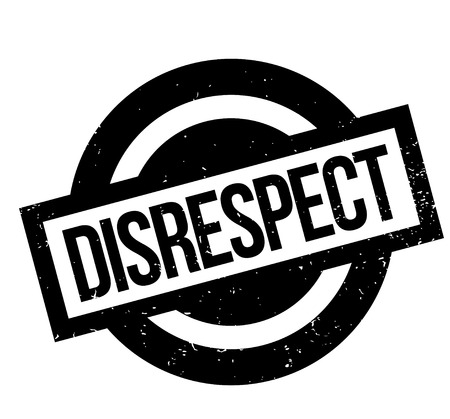 Disrespect rubber stamp. Grunge design with dust scratches. Effects can be easily removed for a clean, crisp look. Color is easily changed.