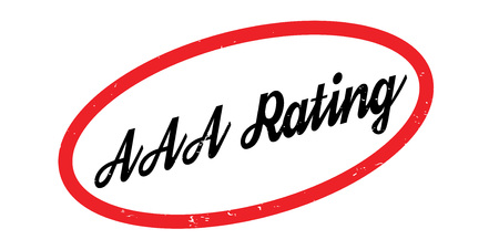 AAA Rating rubber stamp. Grunge design with dust scratches. Effects can be easily removed for a clean, crisp look. Color is easily changed.