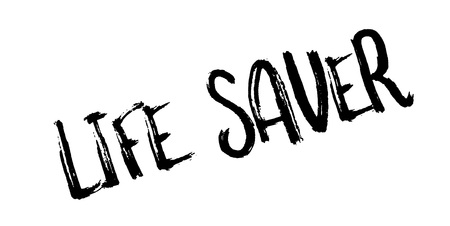 Life Saver rubber stamp.