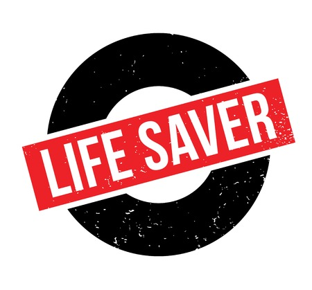 Life Saver rubber stamp. Grunge design with dust scratches. Effects can be easily removed for a clean, crisp look. Color is easily changed. Illustration