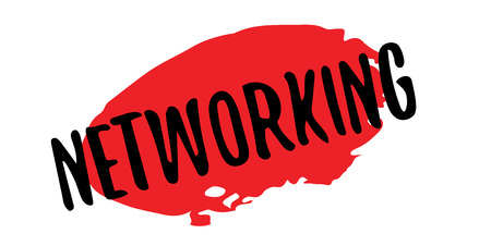 Networking rubber stamp. Grunge design with dust scratches. Effects can be easily removed for a clean, crisp look. Color is easily changed. Illustration