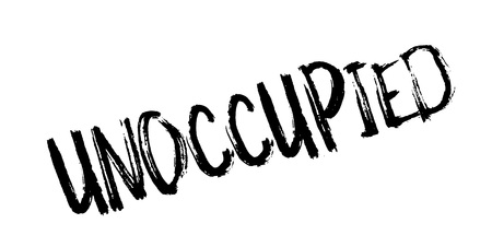 unoccupied: Unoccupied rubber stamp. Grunge design with dust scratches. Effects can be easily removed for a clean, crisp look. Color is easily changed.