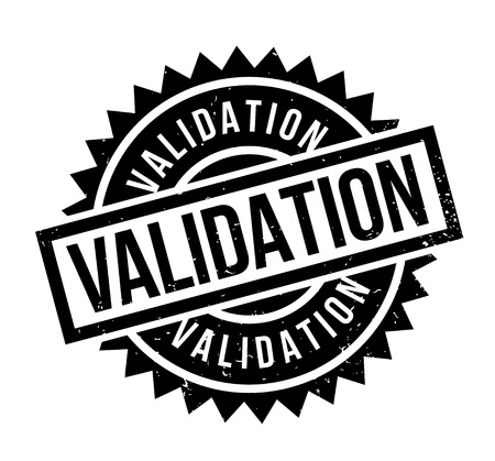 Validation rubber stamp. Grunge design with dust scratches. Effects can be easily removed for a clean, crisp look. Color is easily changed.