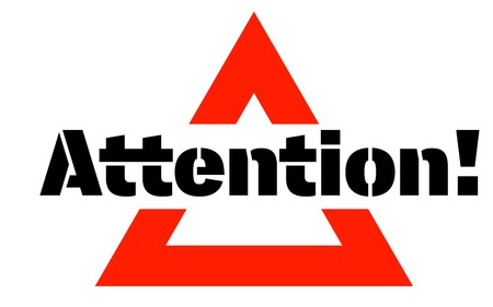 ATTENTION sticker. Authentic design graphic stamp. Original series Illusztráció