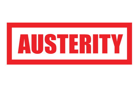 AUSTERITY sticker. Authentic design graphic stamp. Original series 向量圖像