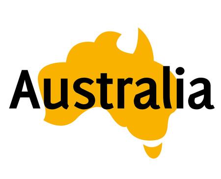 AUSTRALIA sticker. Authentic design graphic stamp. Original series Illustration