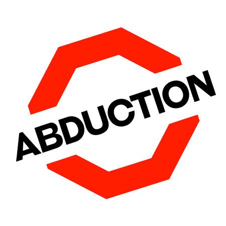 Abduction sticker. Authentic design graphic stamp. Original series